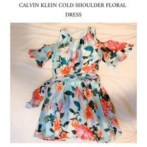 Calvin Klein Dresses - Floral Cold Shoulder Dress